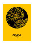 Geneva Street Map Yellow