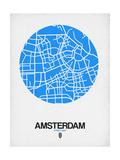 Amsterdam Street Map Blue