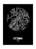 Ottawa Street Map Black