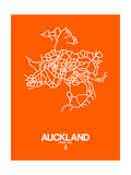 Auckland Street Map Orange