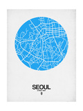 Seoul Street Map Blue