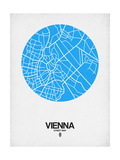 Vienna Street Map Blue