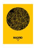 Madrid Street Map Yellow