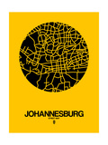 Johannesburg Street Map Yellow