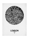 London Street Map Black on White