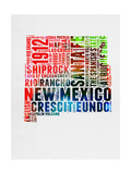 New Mexico Watercolor Word Cloud