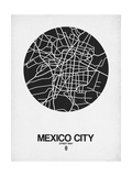 Mexico City Street Map Black on White