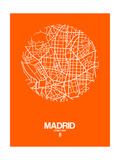Madrid Street Map Orange