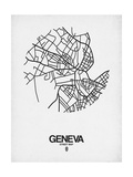 Geneva Street Map White