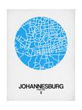 Johannesburg Street Map Blue