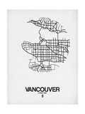 Vancouver Street Map White