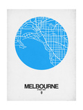 Melbourne Street Map Blue