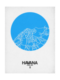 Havana Street Map Blue