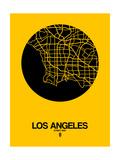 Los Angeles Street Map Yellow