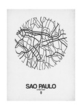 Sao Paulo Street Map White
