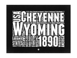 Wyoming Black and White Map