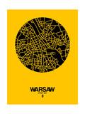 Warsaw Street Map Yellow