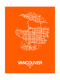 Vancouver Street Map Orange