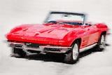 1964 Corvette Stingray Watercolor
