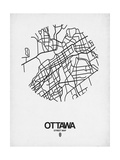 Ottawa Street Map White