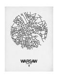 Warsaw Street Map White