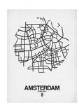 Amsterdam Street Map White