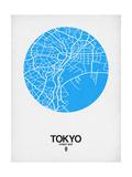 Tokyo Street Map Blue