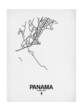 Panama Street Map White