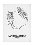 San Francisco Street Map White