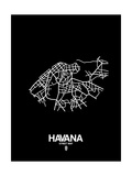 Havana Street Map Black