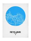 Reykjavik Street Map Blue