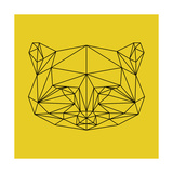 Yellow Raccoon Polygon