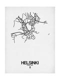 Helsinki Street Map White