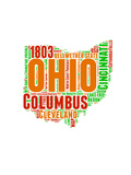 Ohio Word Cloud Map