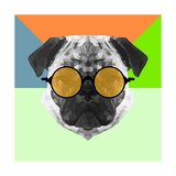 Party Pug in Yellow Glasses