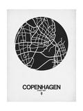 Copenhagen Street Map Black on White