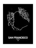 San Francisco Street Map Black