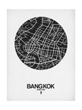 Bangkok Street Map Black on White