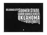 Oklahoma Black and White Map