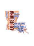 Louisiana Word Cloud Map