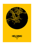Helsinki Street Map Yellow