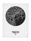 Tokyo Street Map Black on White