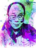 Dalai Lama Watercolor