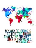 World Map Quote Muhammad Ali