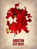 Austin Watercolor Map