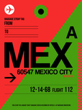 MEX Mexico City Luggage Tag 2