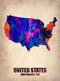 Usa Watercolor Map 1