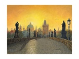 Misty Dawn Charles Bridge Prague