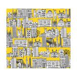 New York Yellow Reproduction d'art par Sharon Turner