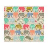 Baby Elephants and Flamingos Reproduction d'art par Sharon Turner
